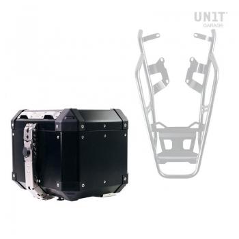 Top case en aluminium Atlas 36L + porte-bagages arrière avec poignées passager
