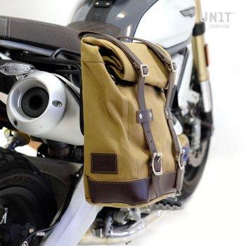 Sacoche latérale en toile + cadre Ducati Scrambler 1100
