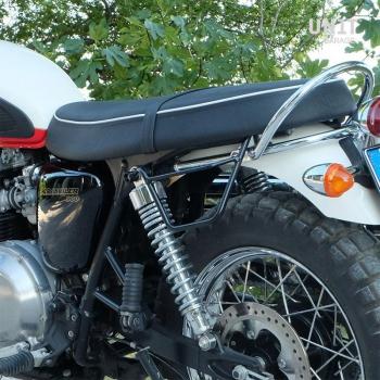 Sacoche latérale en toile + cadre Triumph Scrambler 900 (2006-2017)