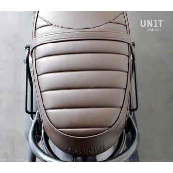Sacoche latérale en cuir fendu + cadre droit
