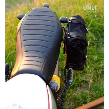 Sacoche latérale en cuir fendu + cadre Ducati Desert Sled