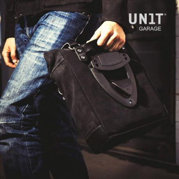 Sacoche latérale en cuir fendu + Gauge cadre Kawasaki Z900RS