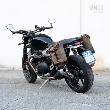Sac fourre-tout en cuir + monture Triumph Speed Twin DX