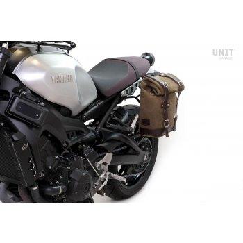 Sacoche latérale en croûte de cuir + cadre Yamaha SX