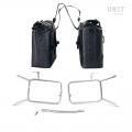Deux sacoches latérales Khali en TPU 35L - 45L avec cadres nineT