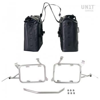 Deux sacoches latérales Khali en TPU 35L - 45L avec cadres R1200GS LC - R1250GS & ADV