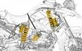 Kit amortisseur BMW R 1200 GS ADV système mécatronique OHLINS