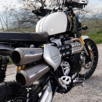 Silencieux Triumph 1200XC & XE avec collecteur sans catalyseur