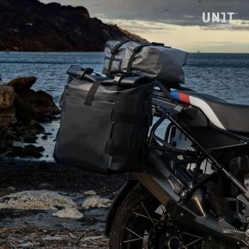 Support de sac en aluminium avec façade réglable en Hypalon et attache rapide + cadre