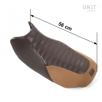 Selle en cuir marron, toile R850R-R1100R