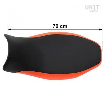 Selle longue noire / orange