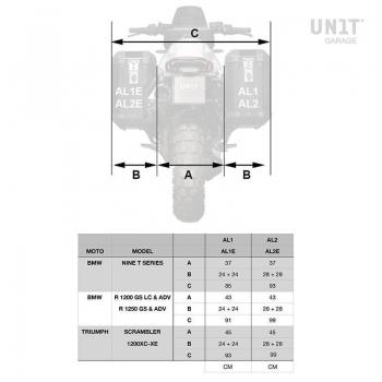 Cadres Triumph 1200 XC & XE pour sacoches aluminium Atlas