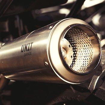 Unit garage kit Paris Dakar for BMW R-Nine-T with High exhaust in Titanium